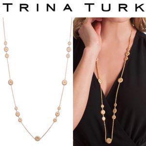 Trina Turk Gold Super Bloom Illusion Necklace